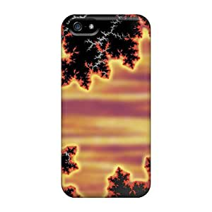 Sanp On Case Cover Protector For Iphone 5/5s (digital Art Abstract Firestar)