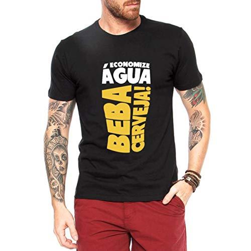 Camiseta Criativa Urbana Beba Cerveja Engraçadas Preto Gg