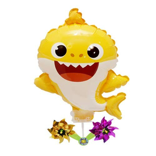 Pinkfong Baby Shark Balloon with Pinwheel Birthday Picnic Party Supplies ()