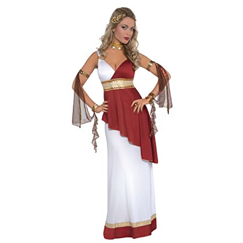 amscan Adult Imperial Empress Costume - Large (10-12), Red]()