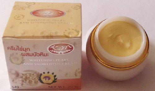 (KIM Whitening Pearl & Snow Lotus Latinal Smoother Face Cream 20g. [Usa])
