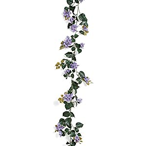 9.5 Foot Outdoor Bougainvillea Garlands Polyblend UV Foliage Lavender, Lilac 3