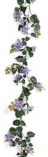 AUF001-95-Foot-Outdoor-Bougainvillea-Garlands-Polyblend-UV-Foliage-Lavender-Lilac