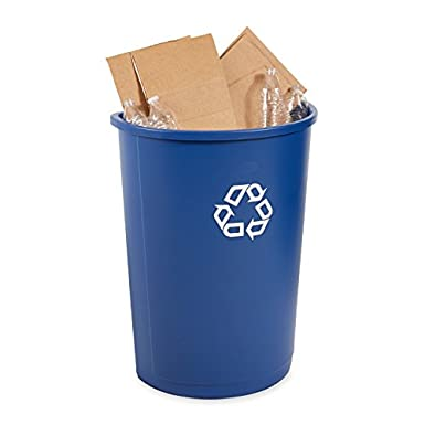 Amazon.com: Rubbermaid Commercial Half Round Recycle Bin, 21 ...