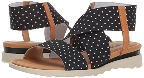 Elastic Extra Flexx Black Women's The Sandal Dots qxYS41wE