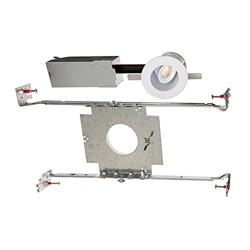 (WAC Lighting HR-LED212E-27-WT 2700K Warm White LEDme Adjustable Round Miniature Recessed Downlight, 1