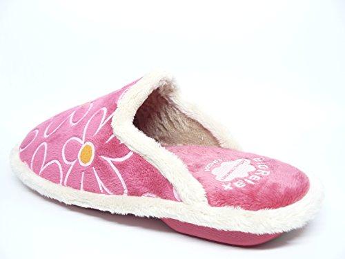 Zapatilla mujer para andar por casa BIORELAX - Suapel color fucsia - 4520 - 10 fucsia
