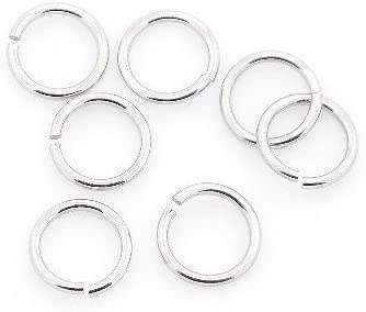 Charming Beads Y01635 Packet of 25 x Silver Stainless Steel 1.2 x 14mm Jump Rings