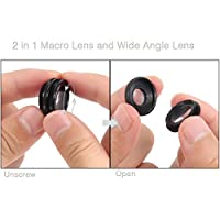 Phone Camera Lens, Hizek 5 in 1 Universal Clip On Cell Phone Camera Lens Kit for iPhone 7/7 Plus /6s/6/5, Samsung S7/S7 Edge from Hizek