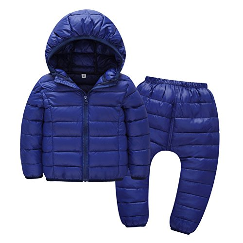 Fenta Child Down Jackets Coats With Pants Girls Boys Winter Snowsuit 2PCS...