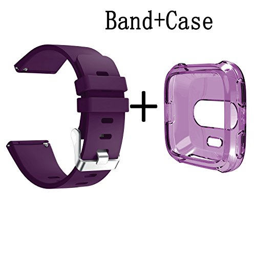 Price comparison product image Senter for Fitbit versa Band and Case,Soft Silicone Replacement Strap Wristband for Fitbit versa Smartwatch