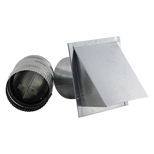 Galvanized Wall Vent with Reversable Backdraft Damper 8 inch