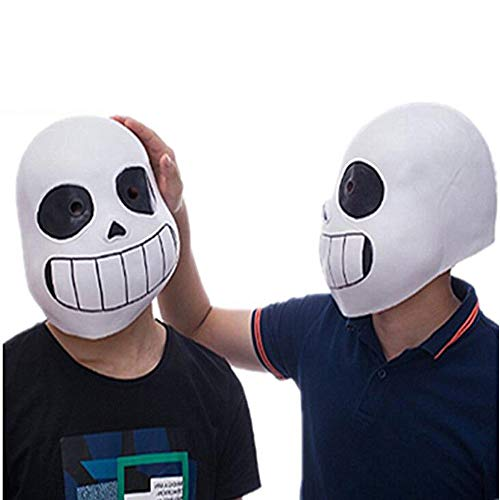 Cosplay Game Legend Undertale Sans Funny Latex Mask Halloween Prom Party Costume Full Face Headgear Prop (Blue Eyes, for Child)