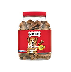 Milk-Bone Soft and Chewy Chicken 12 Vitamins and Minerals Recipe Healthy and Delicious Dog Snacks - 37 ounces (pack of 2)