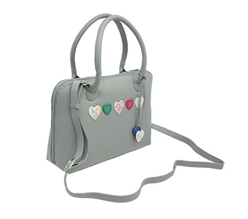 Purple Strap Collection Soft Lucy 750 30 Grab With Grey Leather Shoulder Bag Mala g8RnqPgZ