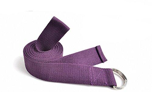 Anna Yoga 250 x 3.8 CM Durable Cotton Yoga Strap, Extra Long High Quality Yoga Stretching Band Accessories(Purple)