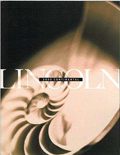 2000 LINCOLN CONTINENTAL SALES BROCHURE CATALOG BOOK
