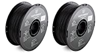 HATCHBOX 3D ABS-1KG1.75-BLK ABS 3D Printer LMHUK Filament, Dimensional Accuracy +/- 0.05 mm, 1.75 mm, Black, 1 KG Spool (2 Pack) from HATCHBOX