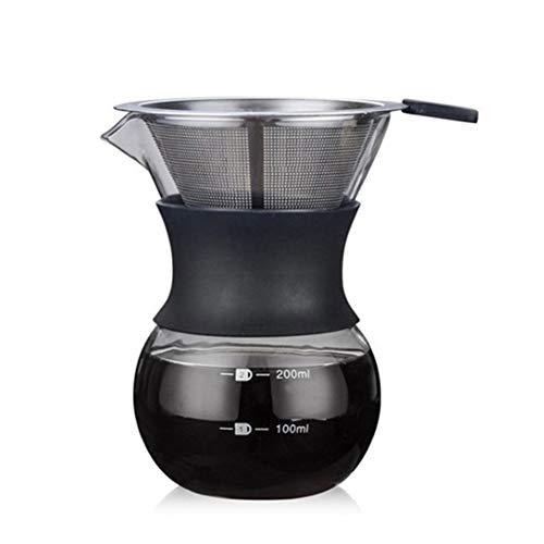 Pour Over Coffee Maker with Permanent Stainless Steel Filter 200ml 41p4aKZdmdL   41p4aKZdmdL
