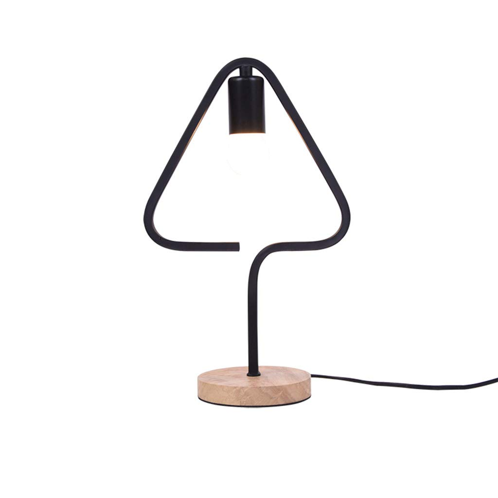 JUNBON Tischlampe Mode kreative Schlafzimmer Moderne dekorative Schmiedeeisen Nachttischlampe (Design   A)