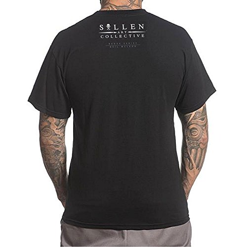 Sullen Men's Neil Badge SS T Shirt Black