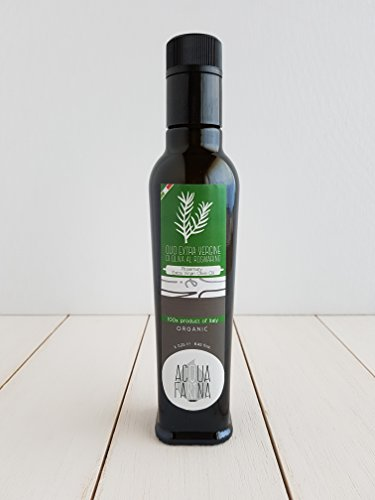 Rosemary Extra Virgin Olive Oil 8.45 FL oz by Acqua e Farina