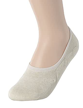 OSABASA Womens Casual No-Show 1Pairs Socks of Various Pastel Colors BEIGE L (KWMS058)