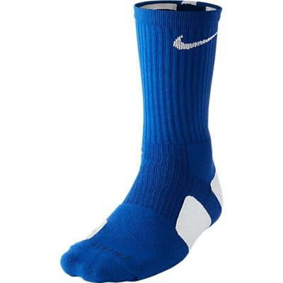 Nike Dri-FIT Elite Crew Basketball Socks Game Royal/White Size Medium