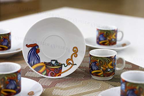 Tuweep 2 Oz Espresso Cups and Saucers Set Cuban Coffee Cafe Cubano Tacitas 12 Pieces by Tuweep