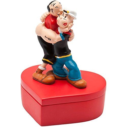Westland Giftware Popeye and Olive Oyl In Love Resin Trinket Box, 4-3/4-Inch (Olive Oyl)