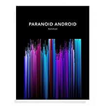 NEON Sound Wave Art Print - Paranoid Android - Inspirational Present for Friend - 11 x 14 Unframed Music Art for Radiohead Fan or Living Room swp 142