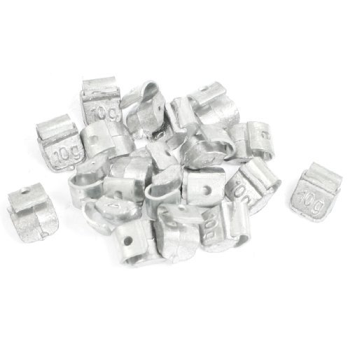 20 Pieces 10g Tyre Wheel Balancing Weights for Car Wheels Clip DealMux