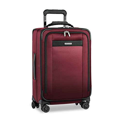 Briggs & Riley Transcend Tall Carry-on Expandable Spinner, Merlot by Briggs & Riley