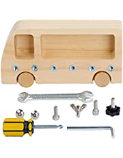 SM SunniMix Montessori Baby Screw Driver Board for Kids Screw Bolts Montessori Materials Practical Basic Skills Educational Learning Sensory Toys