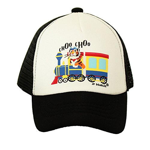 JP DOoDLES® Choo Choo Train on Baby Trucker Hat. The Baby Baseball Cap is Available in Blue Or Black Mesh Back. The Baby Ball Cap fits (ITTY Bitty 4-12 MOS, Black) Train Trucker Hat
