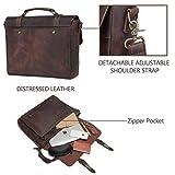 Leather Messenger Bag for Men,VASCHY Handmade
