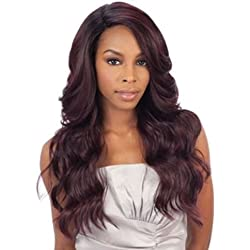 DANITY(2 Dark Brown) - FREETRESS EQUAL DEEP INVISIBLE 'L' PART LACE FRONT WIG