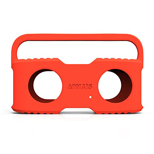 Bluetooth Speakers Sling Cover Compatible AOMAIS Sport II and Sport II+ Waterproof Portable Speakers (Orange)