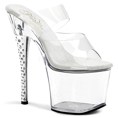 Price comparison product image Pleaser Women's Diamond-702 / C / M Platform Sandal, Clear, 7 M US