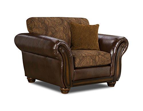 Simmons Upholstery 8104-01 Zephyr Aspen (Leather Sleeper Recliner)