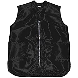 Betty Dain Glitz Rhinestone Zipper Salon Stylist Vest, Black, L