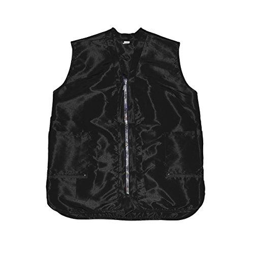 Betty Dain Glitz Rhinestone Zipper Salon Stylist Vest, Black, M