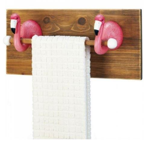 MD Group Towel Holder Bathroom Rack Wood Wall Bar Kitchen Sh