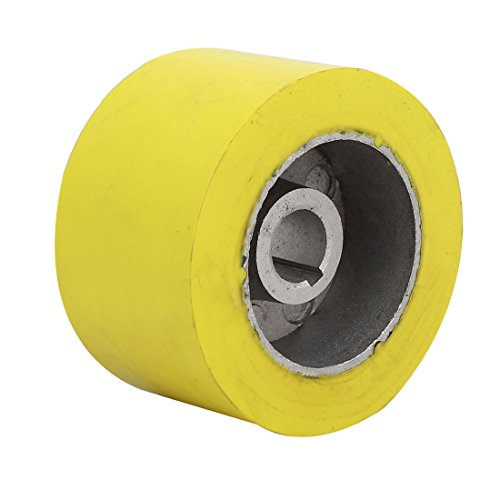 uxcell 100mm x 20mm x 60mm Silicone Pinch Roller Rolling Wheel Woodworking Yellow by uxcell