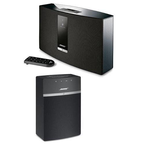 Bose SoundTouch 20 Series III Wireless Music System with Remote Control, Black - With Bose SoundTouch 10 Wireless Music System Black by Bose