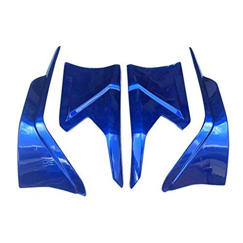 HIGH FLYING 4pcs ABS Plastic Front&rear Lips Bottom Bumper Diffuser Protector For Honda Civic 4dr Sedan 2016 2017 2018 (BLUE)