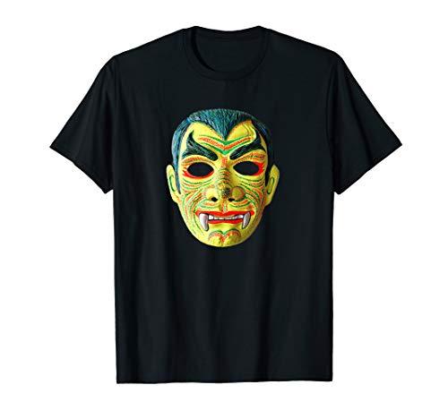 Vampire Dracula Halloween Mask Trick or Treat Costume Tee]()