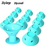 40 Packs Magic Hair Rollers, silicone rollers