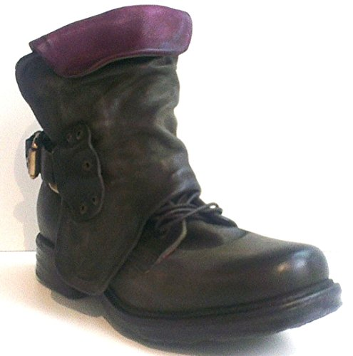 A.S.98 Schn眉rboot, Antikleder jungle-chianti, Saintec 259211-0101-0001