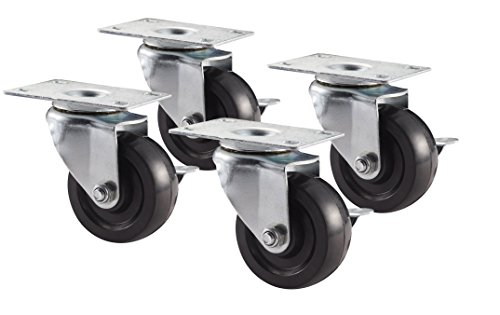NewAge Products 31404 3-Inch Caster Kit, 4-Pack by New Age